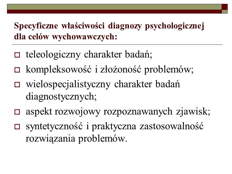 teleologiczny charakter badań; kompleksowość i złożoność problemów;