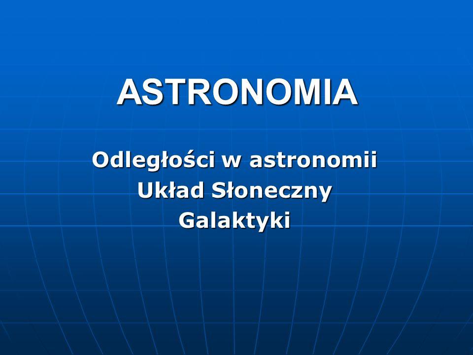 Odległości w astronomii Układ Słoneczny Galaktyki
