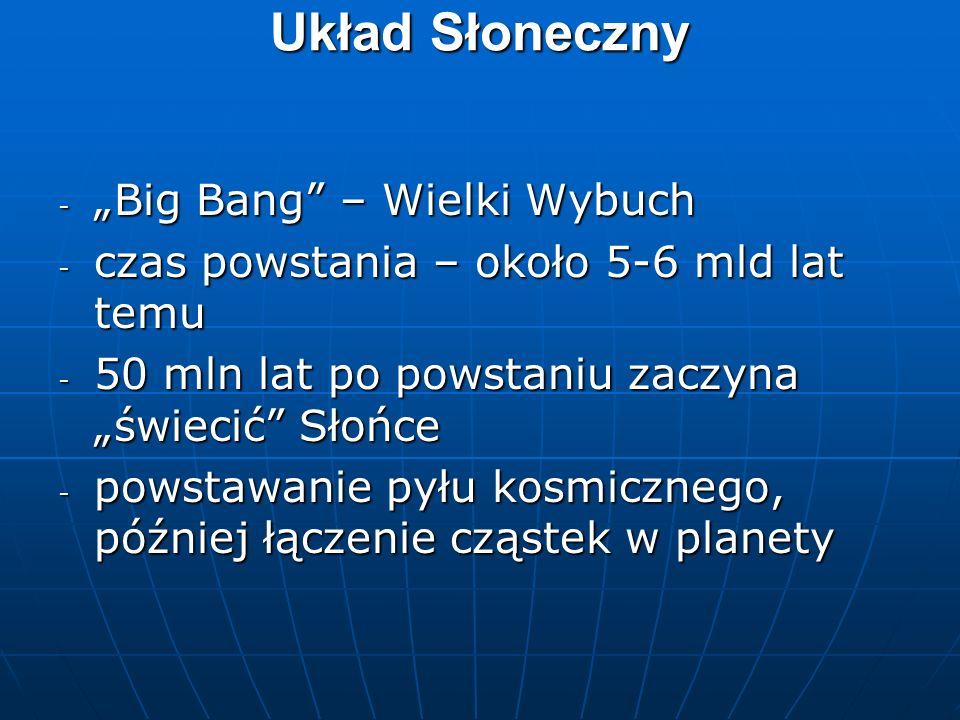 """Układ Słoneczny """"Big Bang – Wielki Wybuch"""