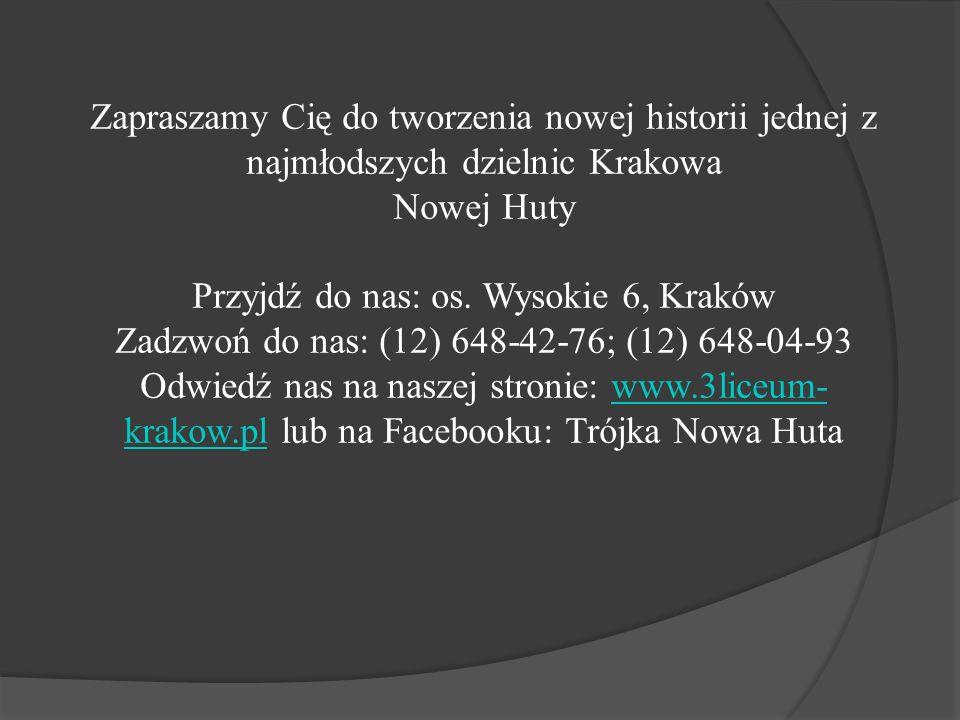 Przyjdź do nas: os. Wysokie 6, Kraków