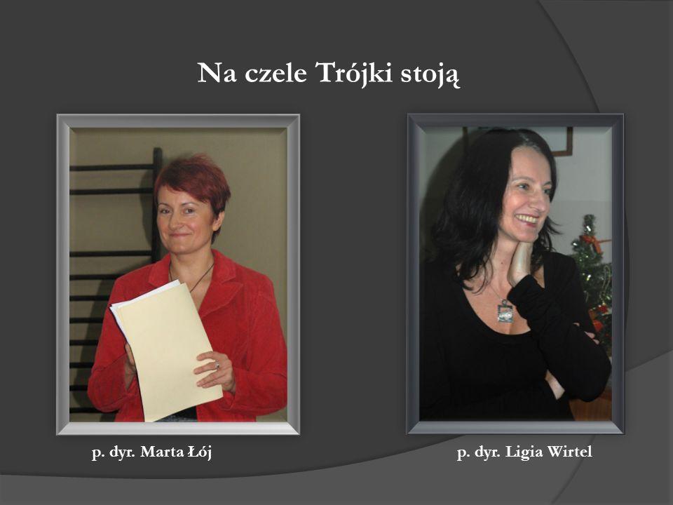 Na czele Trójki stoją p. dyr. Marta Łój p. dyr. Ligia Wirtel