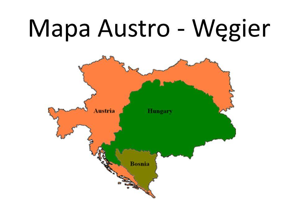 Mapa Austro - Węgier