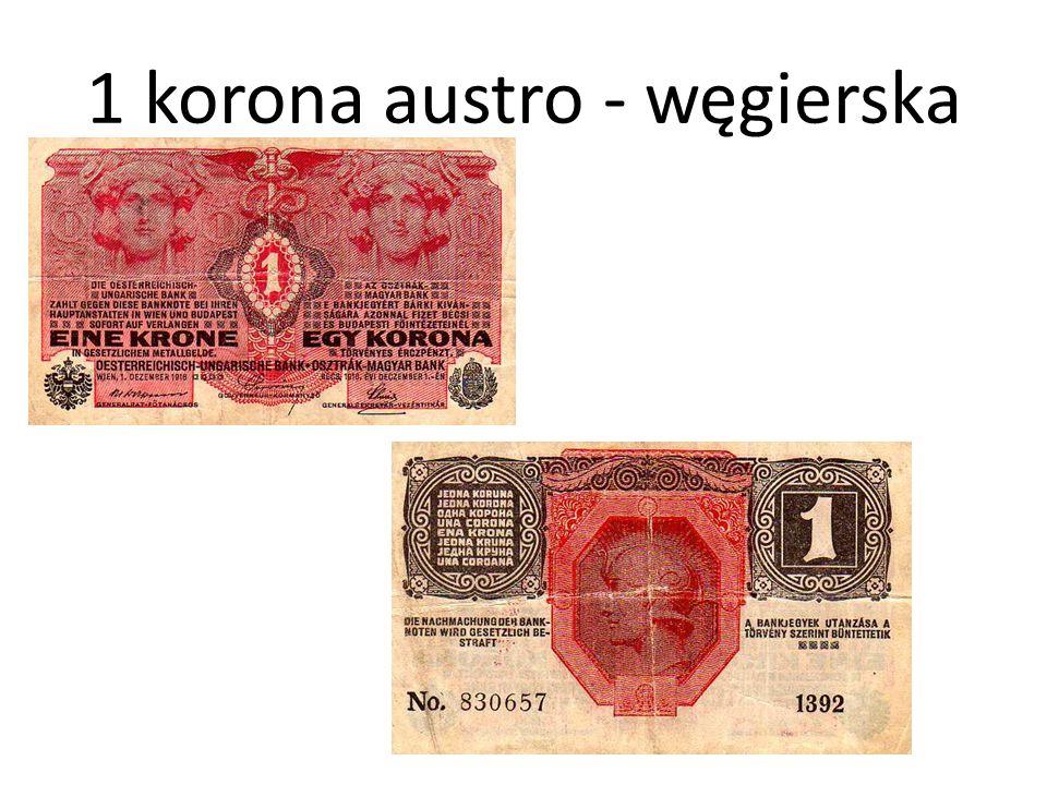 1 korona austro - węgierska