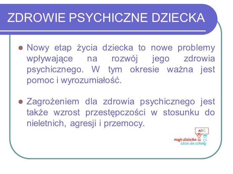 ZDROWIE PSYCHICZNE DZIECKA