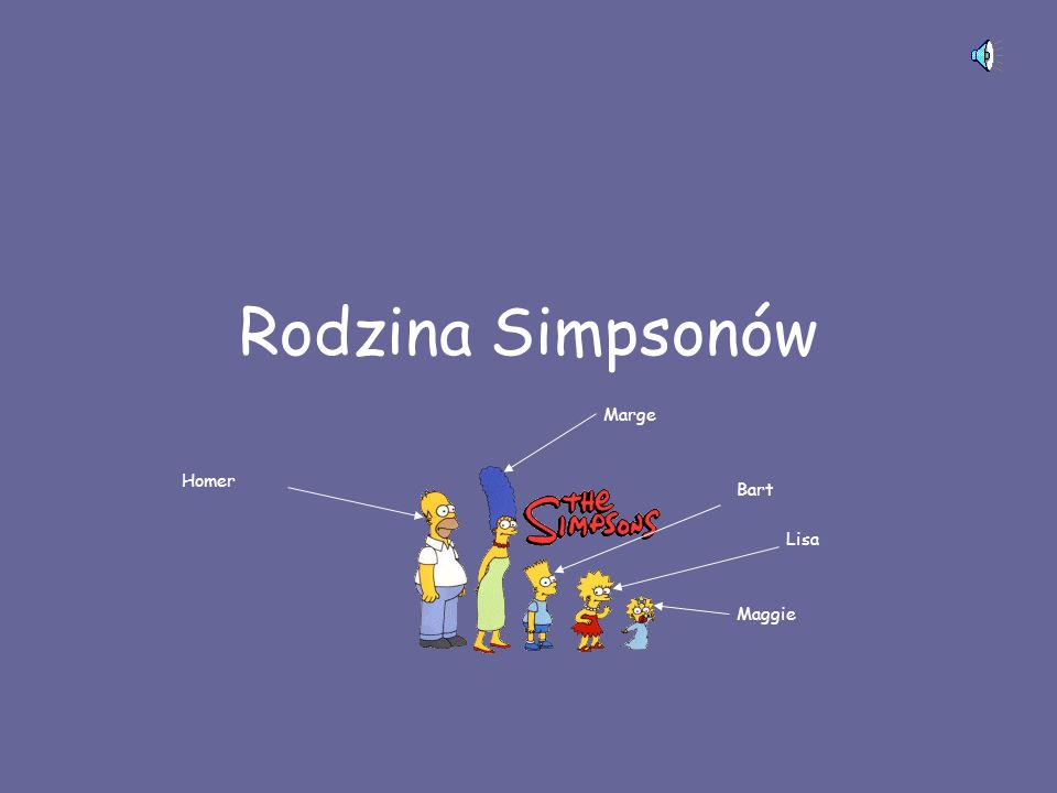 Rodzina Simpsonów Marge Homer Bart Lisa Maggie