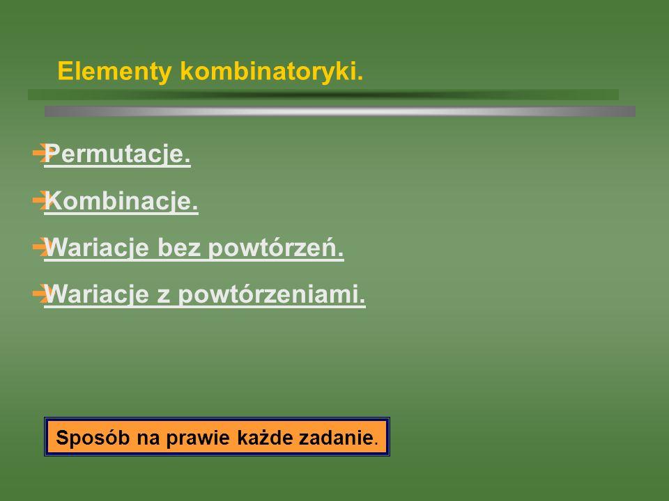Elementy kombinatoryki.
