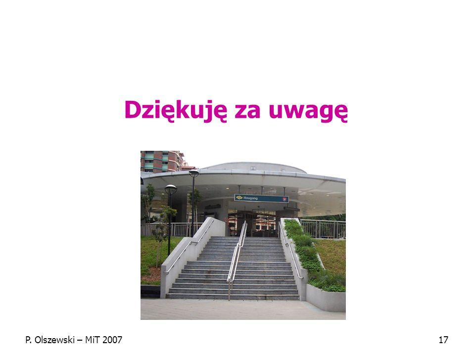 Dziękuję za uwagę P. Olszewski – MiT 2007