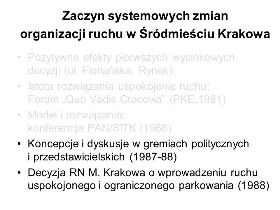 Zaczyn systemowych zmian organizacji ruchu w Śródmieściu Krakowa