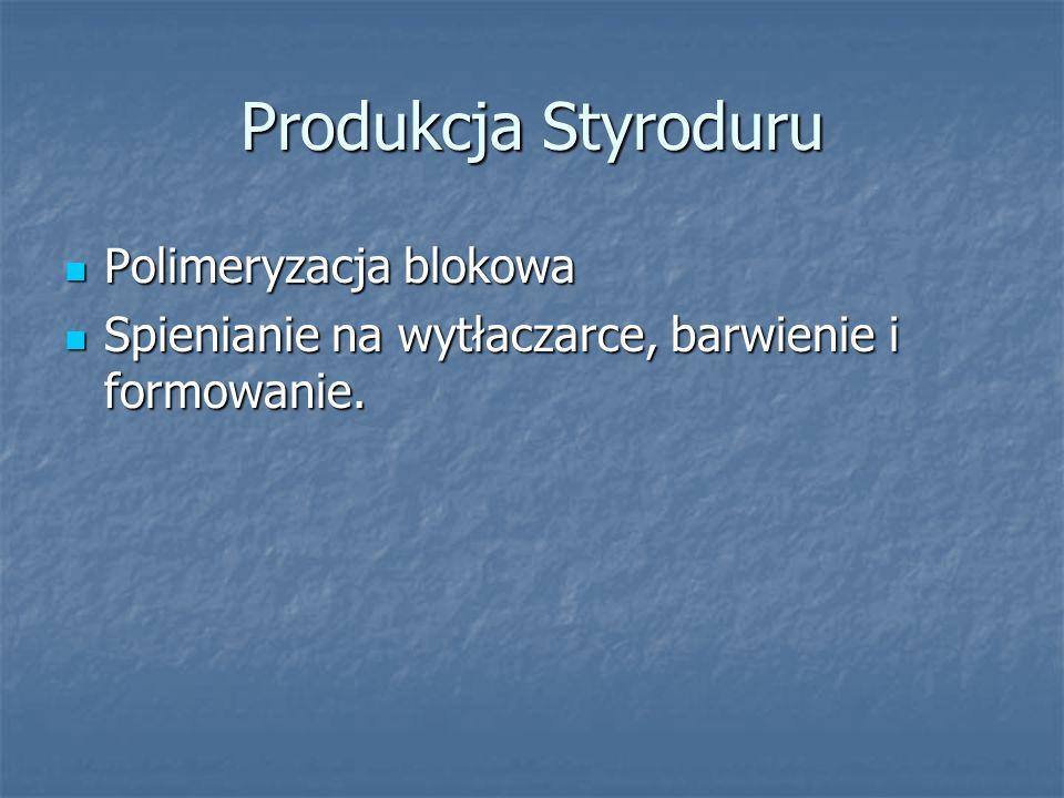 Produkcja Styroduru Polimeryzacja blokowa