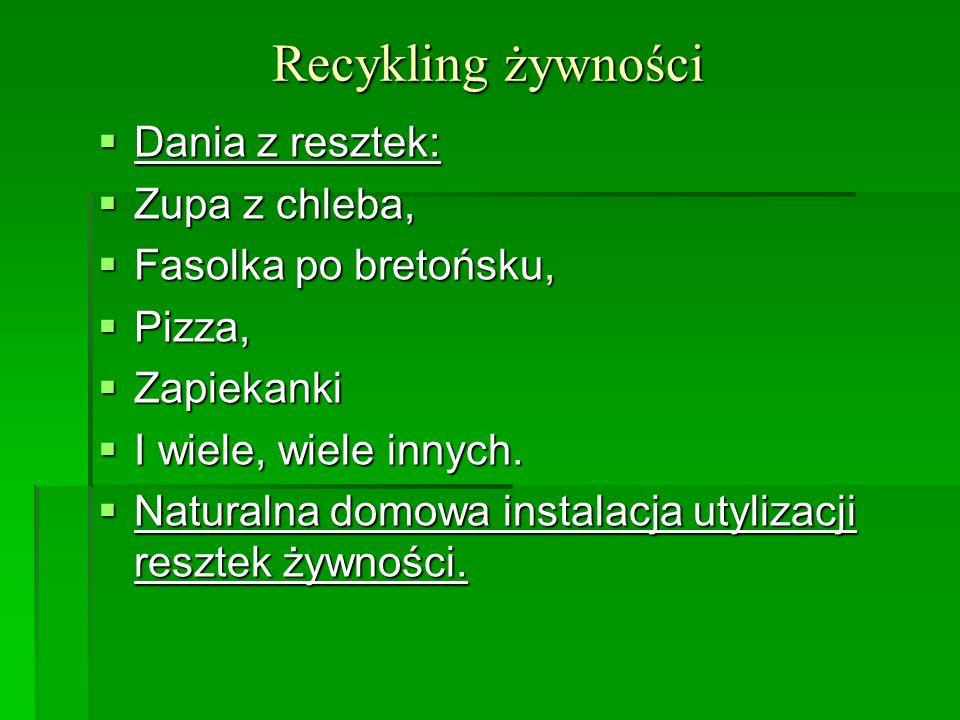 Recykling żywności Dania z resztek: Zupa z chleba,