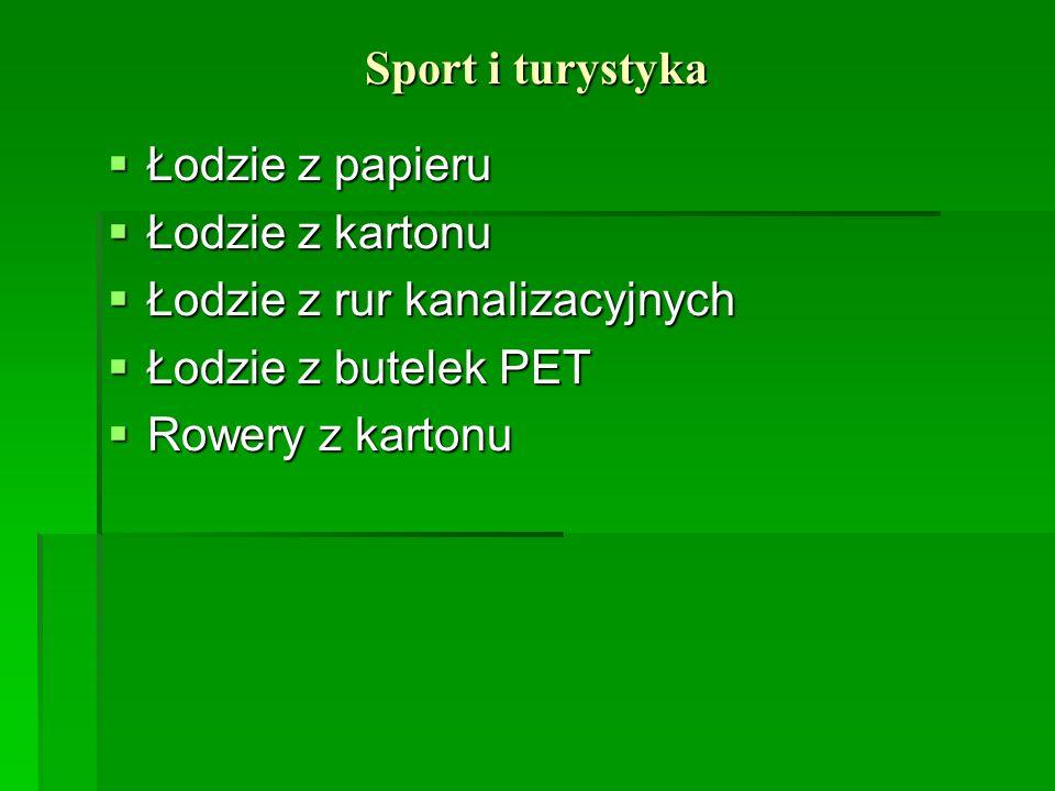 Sport i turystyka Łodzie z papieru. Łodzie z kartonu. Łodzie z rur kanalizacyjnych. Łodzie z butelek PET.