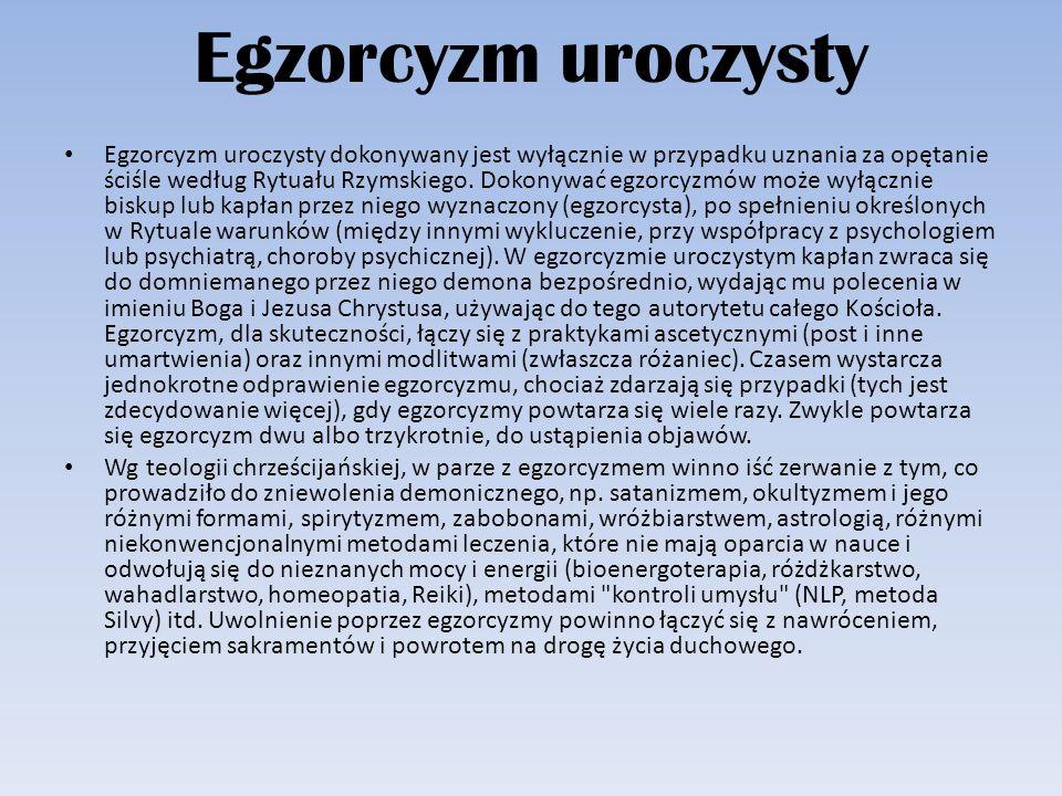 Egzorcyzm uroczysty