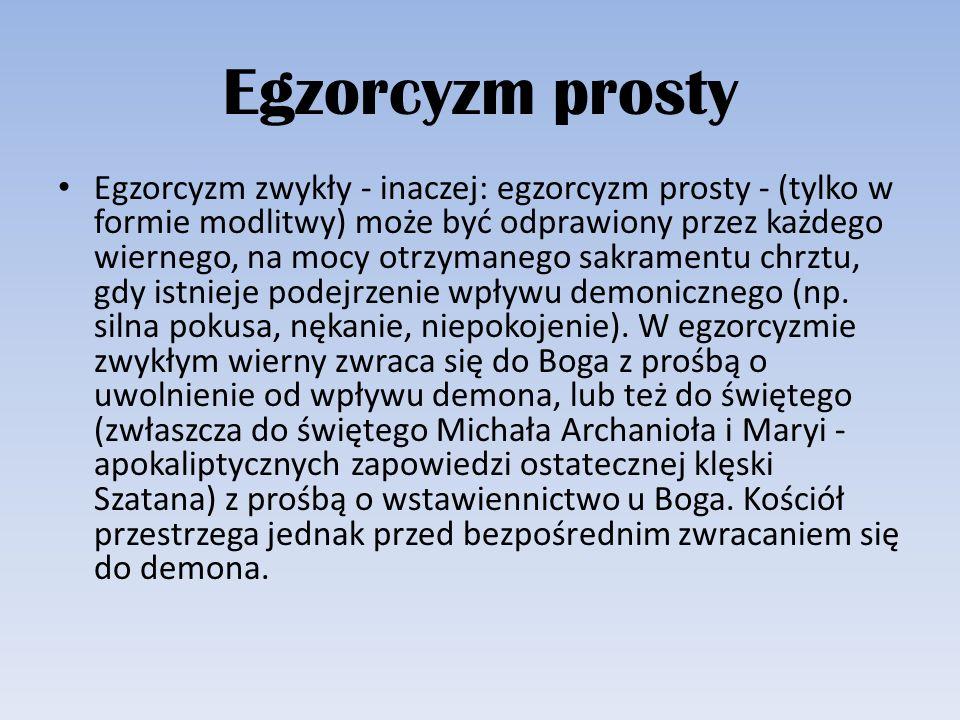 Egzorcyzm prosty