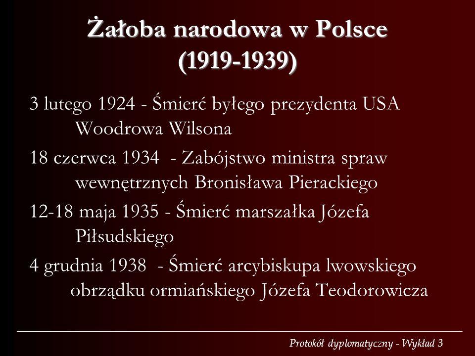 Żałoba narodowa w Polsce (1919-1939)