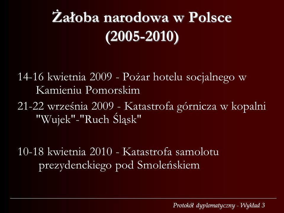 Żałoba narodowa w Polsce (2005-2010)