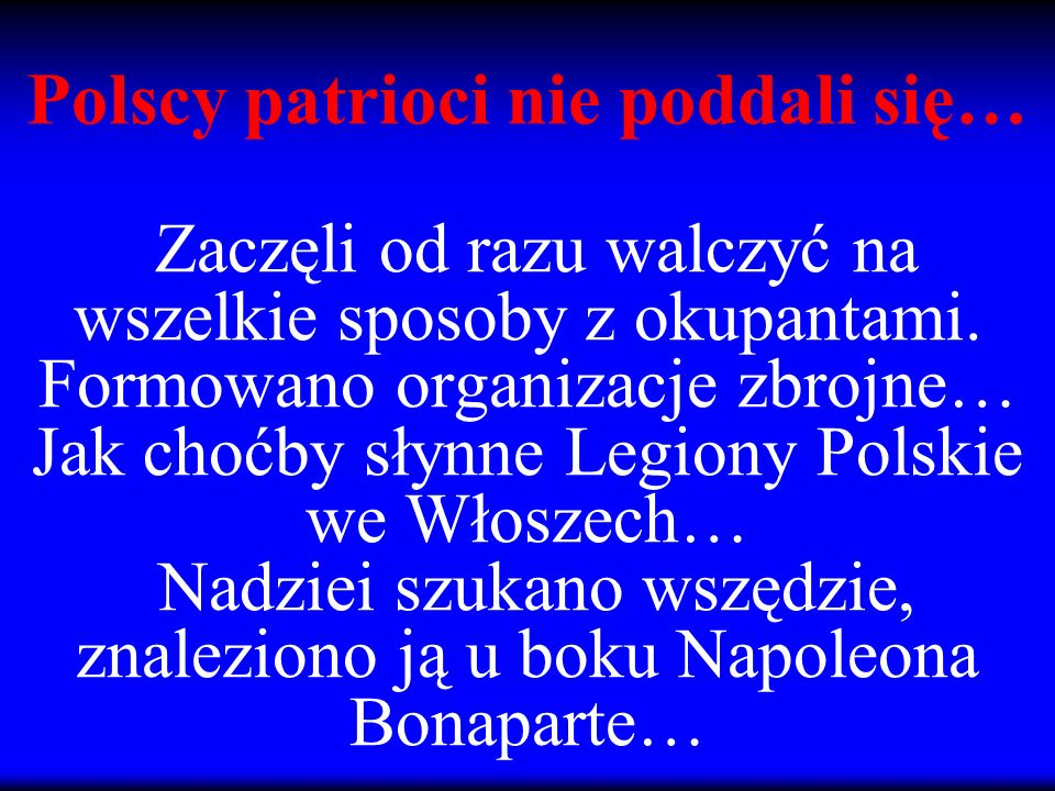 Polscy patrioci nie poddali się…