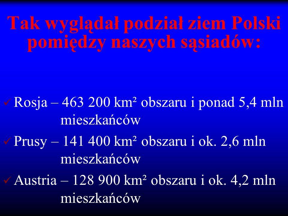 Tak wyglądał podział ziem Polski pomiędzy naszych sąsiadów: