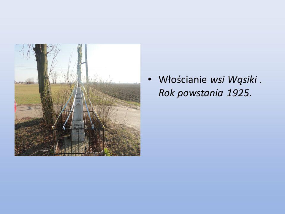 Włościanie wsi Wąsiki . Rok powstania 1925.