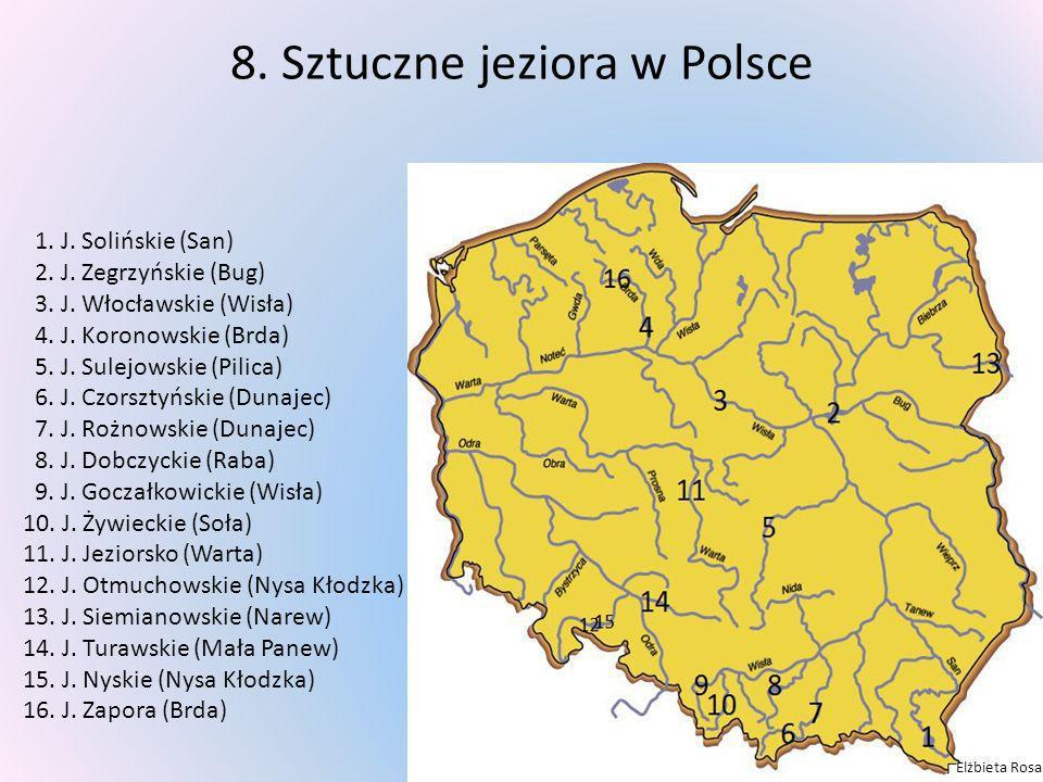 8. Sztuczne jeziora w Polsce