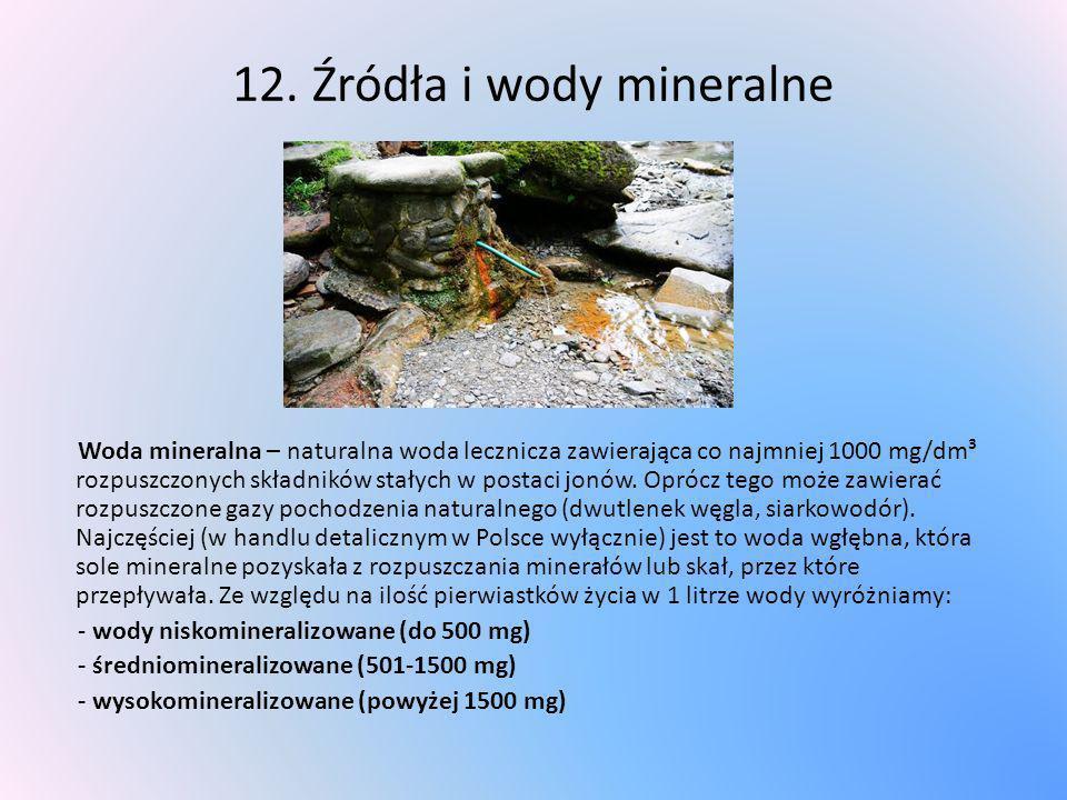 12. Źródła i wody mineralne