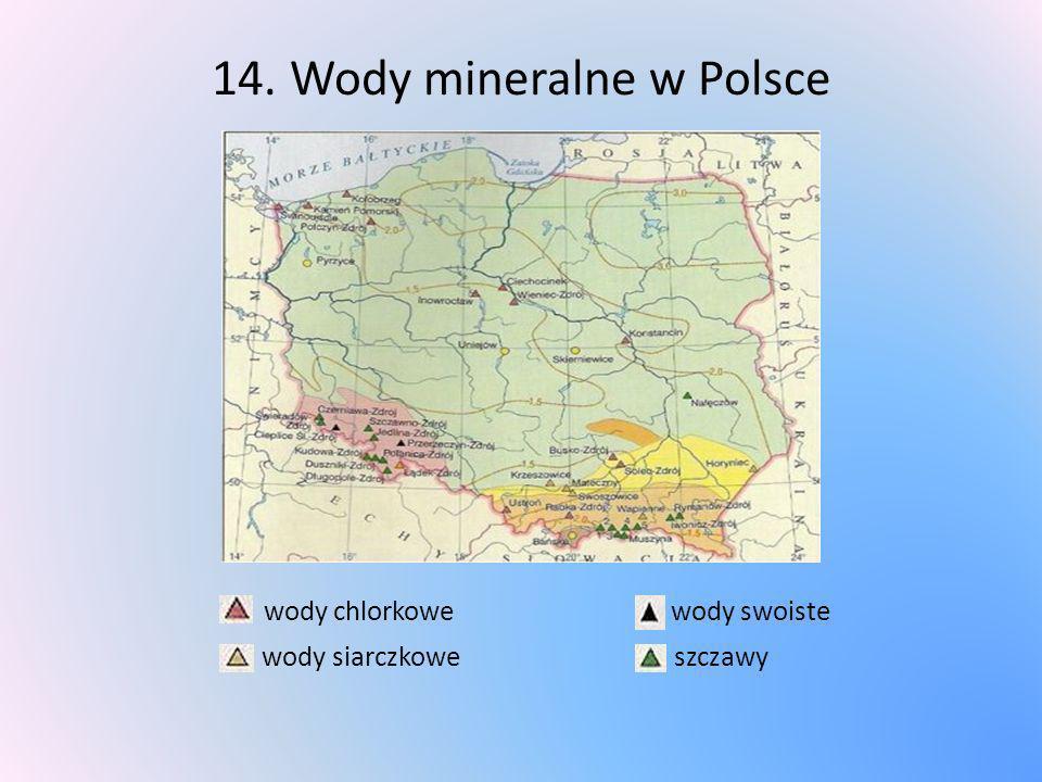 14. Wody mineralne w Polsce