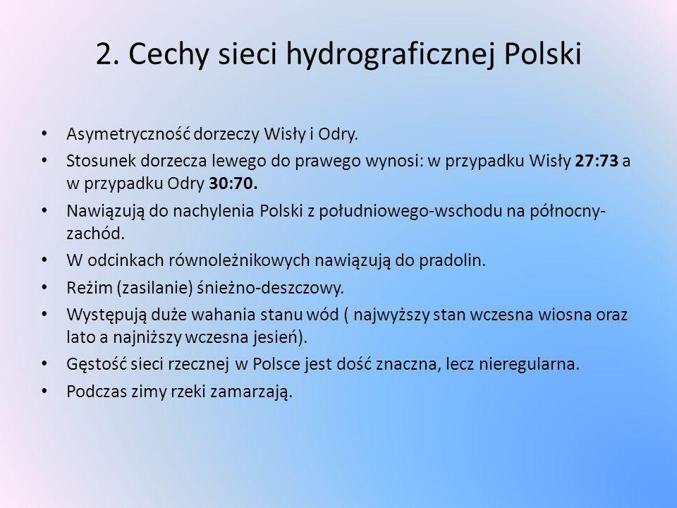 2. Cechy sieci hydrograficznej Polski
