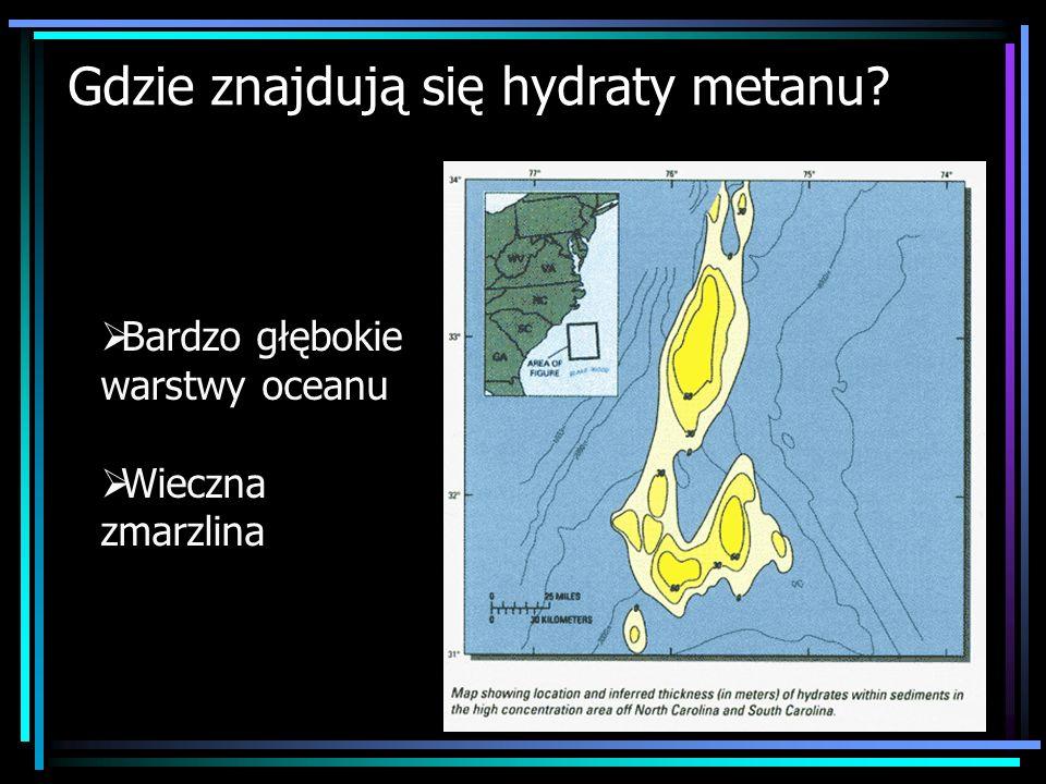 Gdzie znajdują się hydraty metanu