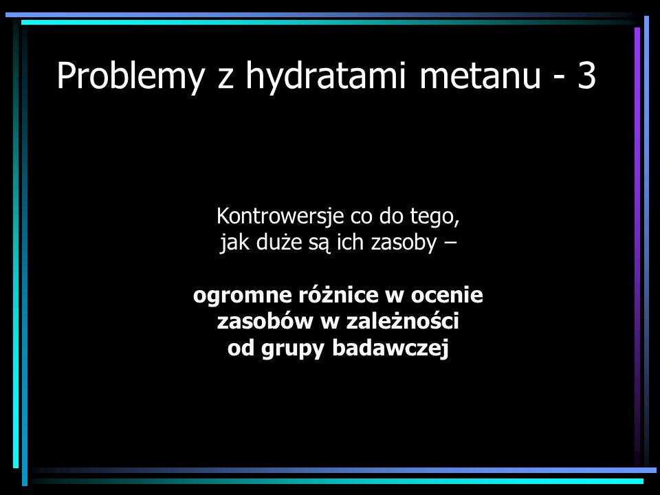 Problemy z hydratami metanu - 3