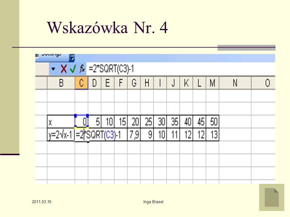 Wskazówka Nr. 4 2011.03.16 Inga Brasel