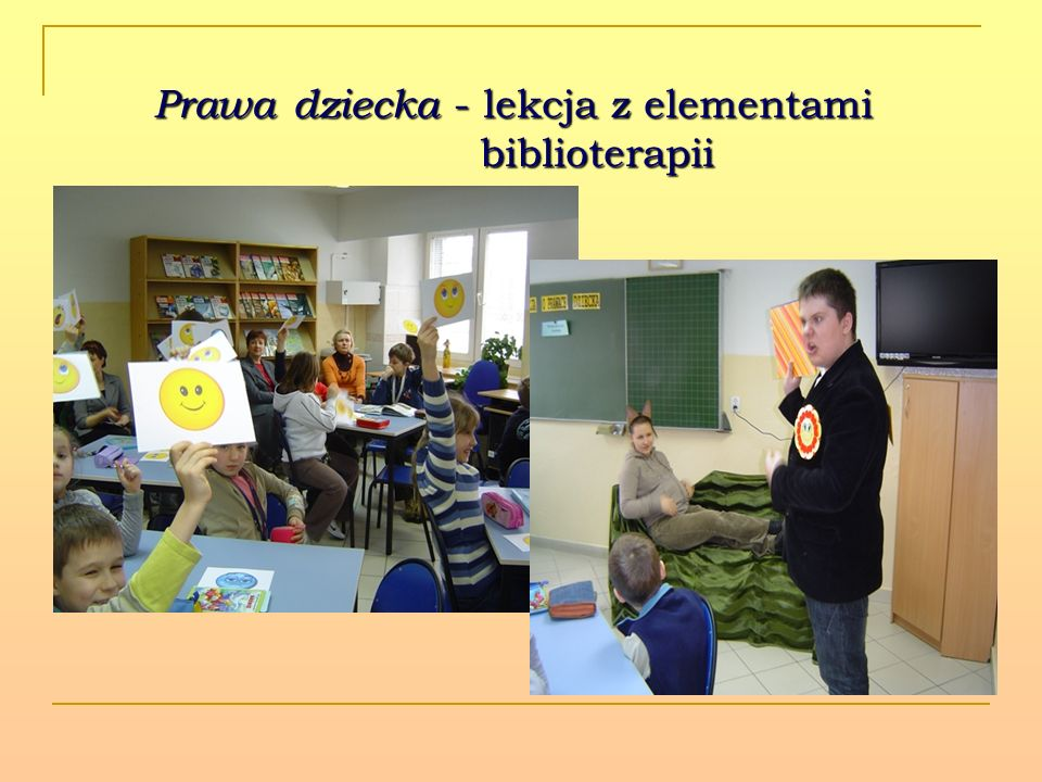 Prawa dziecka - lekcja z elementami biblioterapii