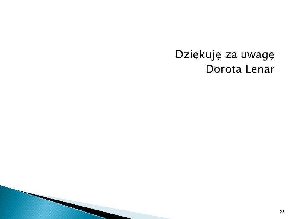 Dziękuję za uwagę Dorota Lenar