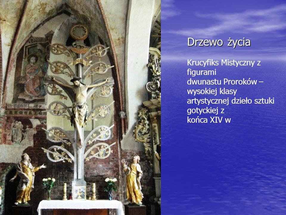 Drzewo życia Krucyfiks Mistyczny z figurami dwunastu Proroków – wysokiej klasy artystycznej dzieło sztuki gotyckiej z końca XIV w