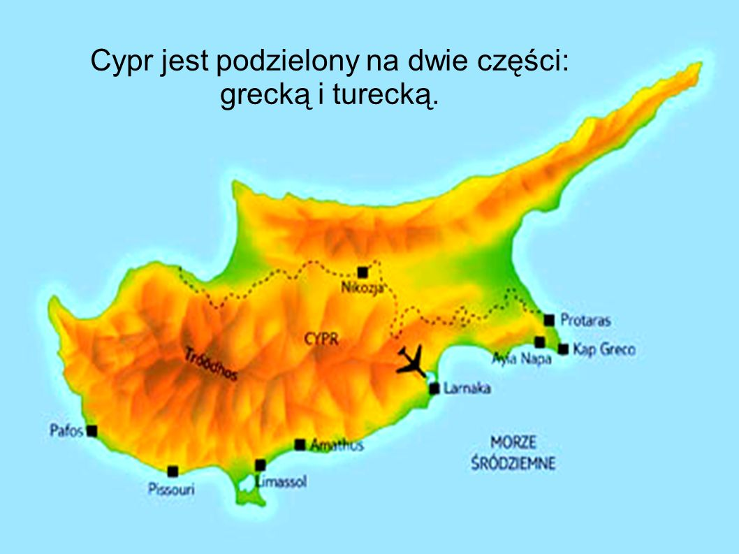 Cypr jest podzielony na dwie części: