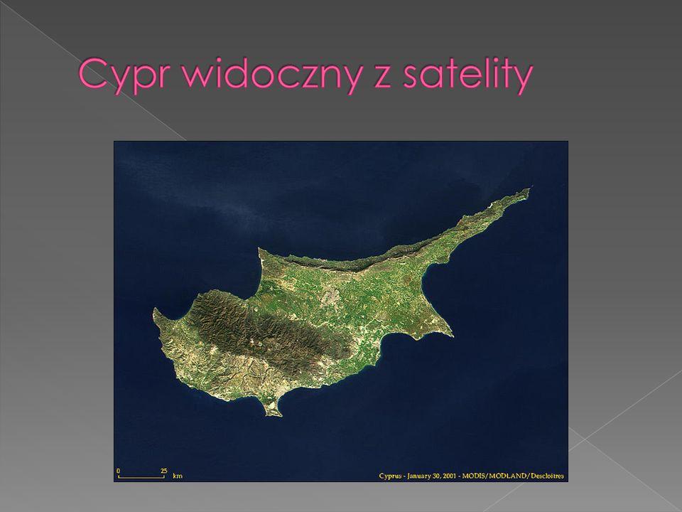 Cypr widoczny z satelity