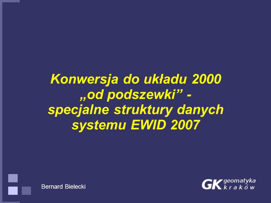 """Konwersja do układu 2000 """"od podszewki - specjalne struktury danych systemu EWID 2007"""