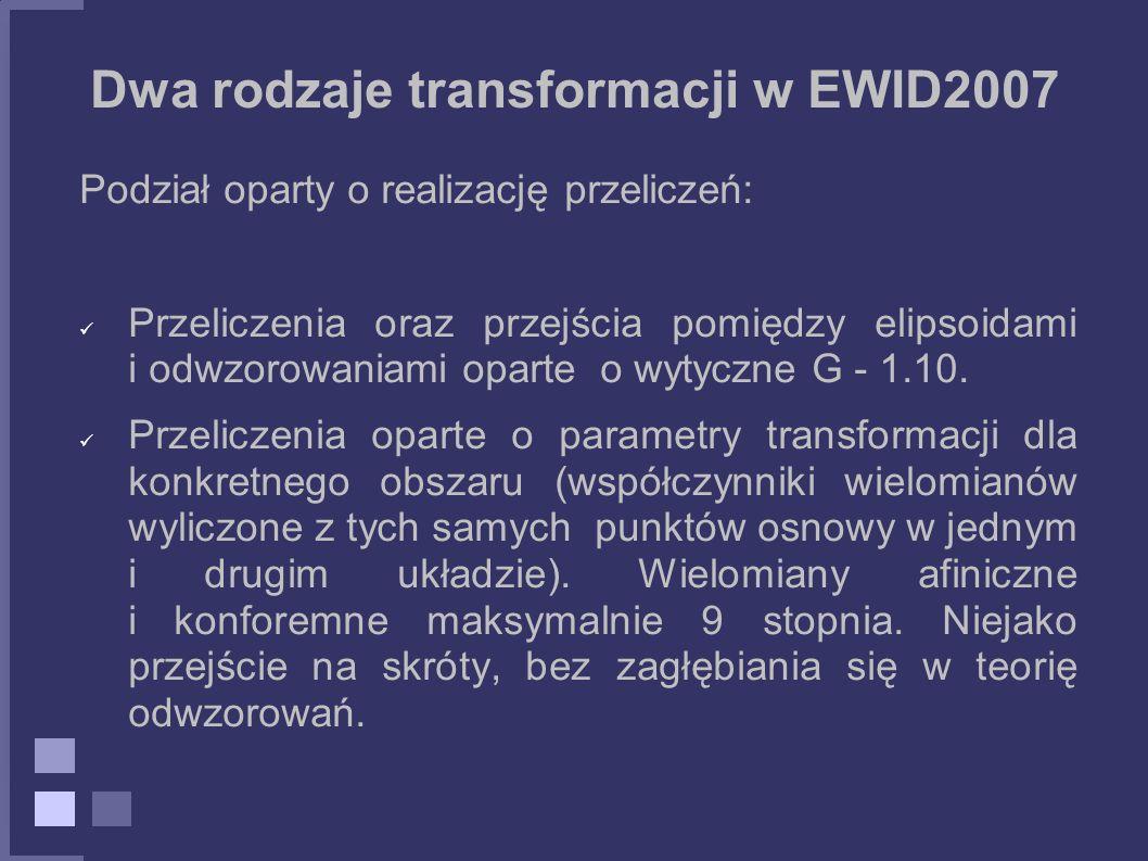 Dwa rodzaje transformacji w EWID2007
