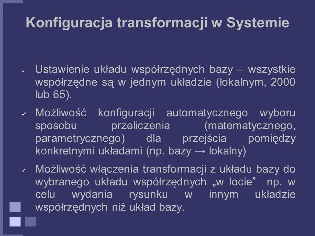 Konfiguracja transformacji w Systemie