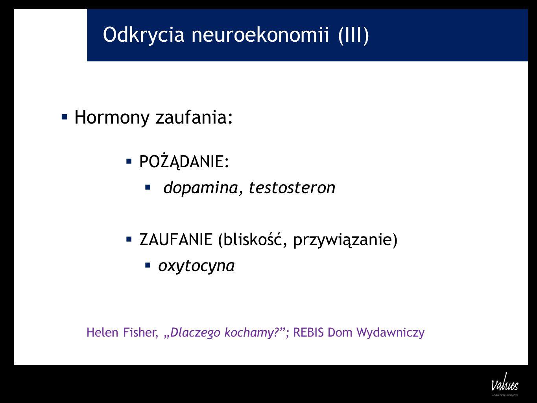 Odkrycia neuroekonomii (III)