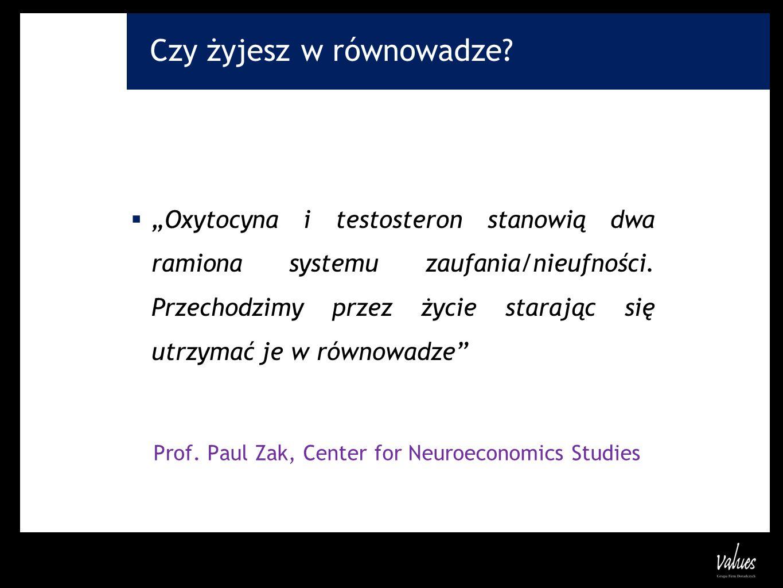 Prof. Paul Zak, Center for Neuroeconomics Studies
