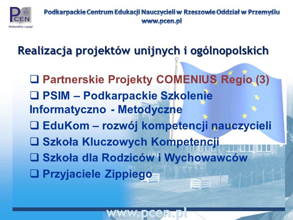 Realizacja projektów unijnych i ogólnopolskich