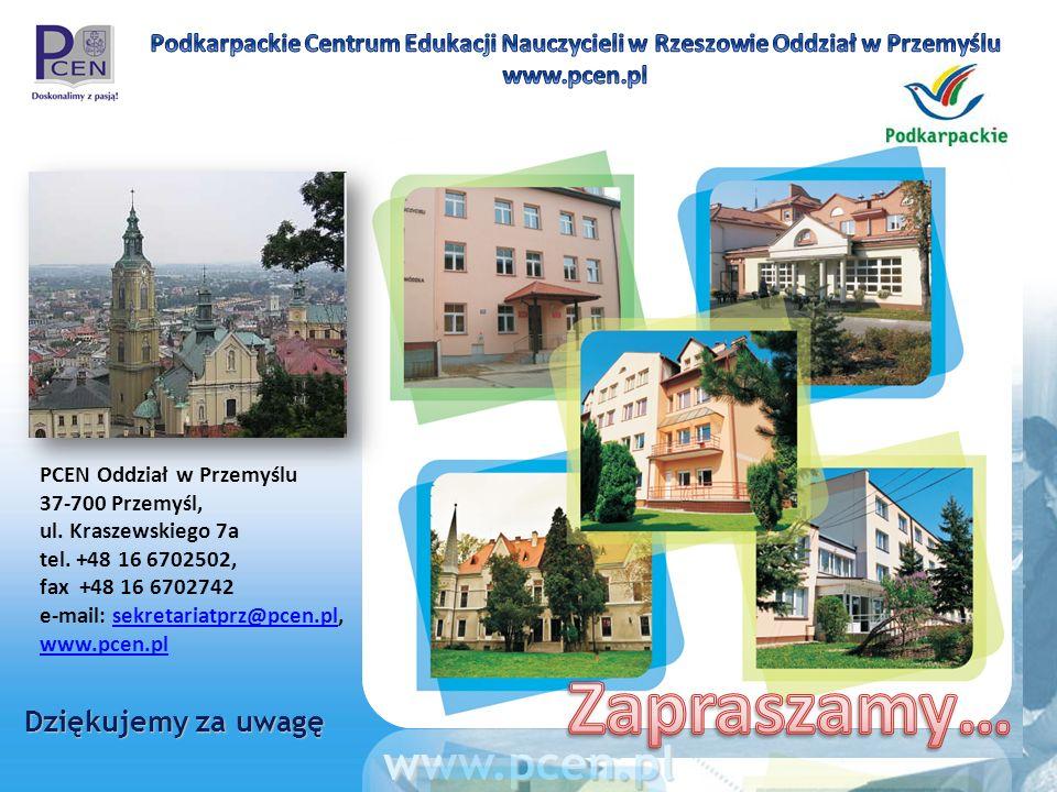 Zapraszamy… www.pcen.pl Dziękujemy za uwagę