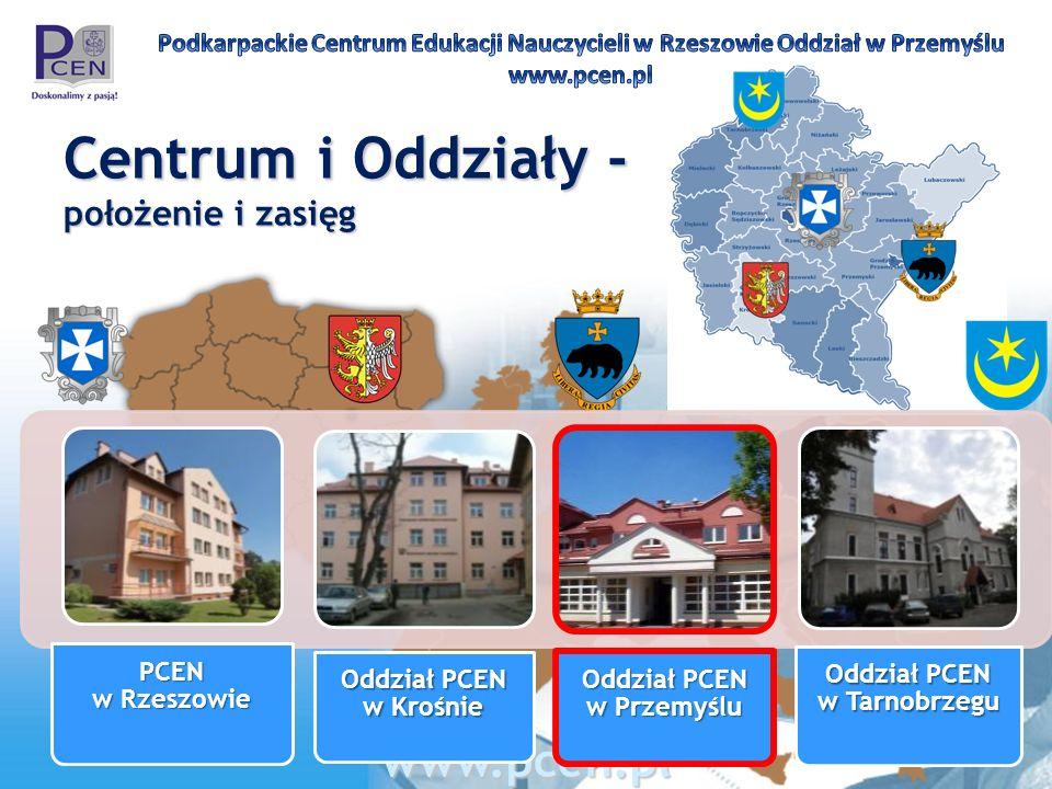 Centrum i Oddziały - położenie i zasięg