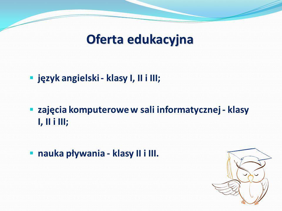 Oferta edukacyjna język angielski - klasy I, II i III;