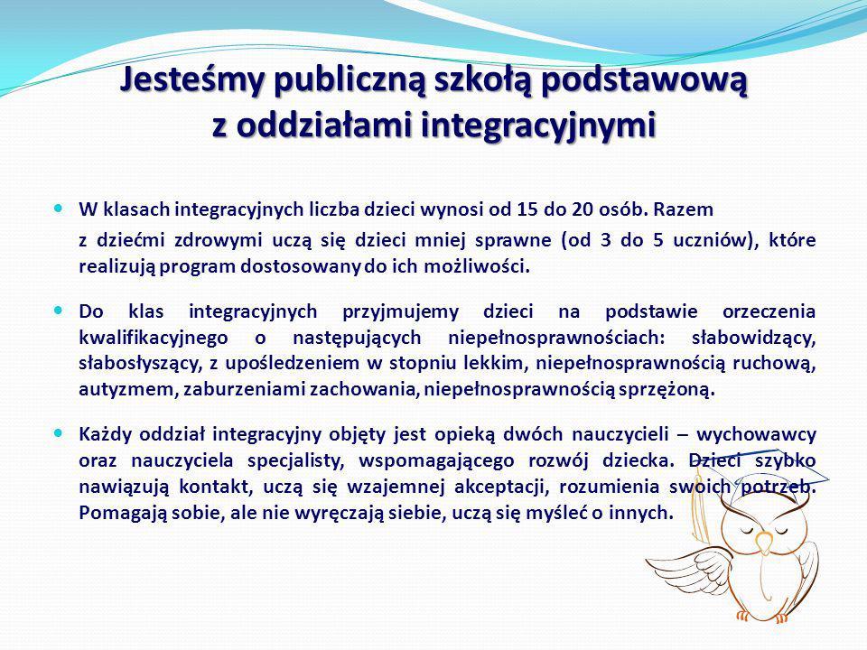 Jesteśmy publiczną szkołą podstawową z oddziałami integracyjnymi