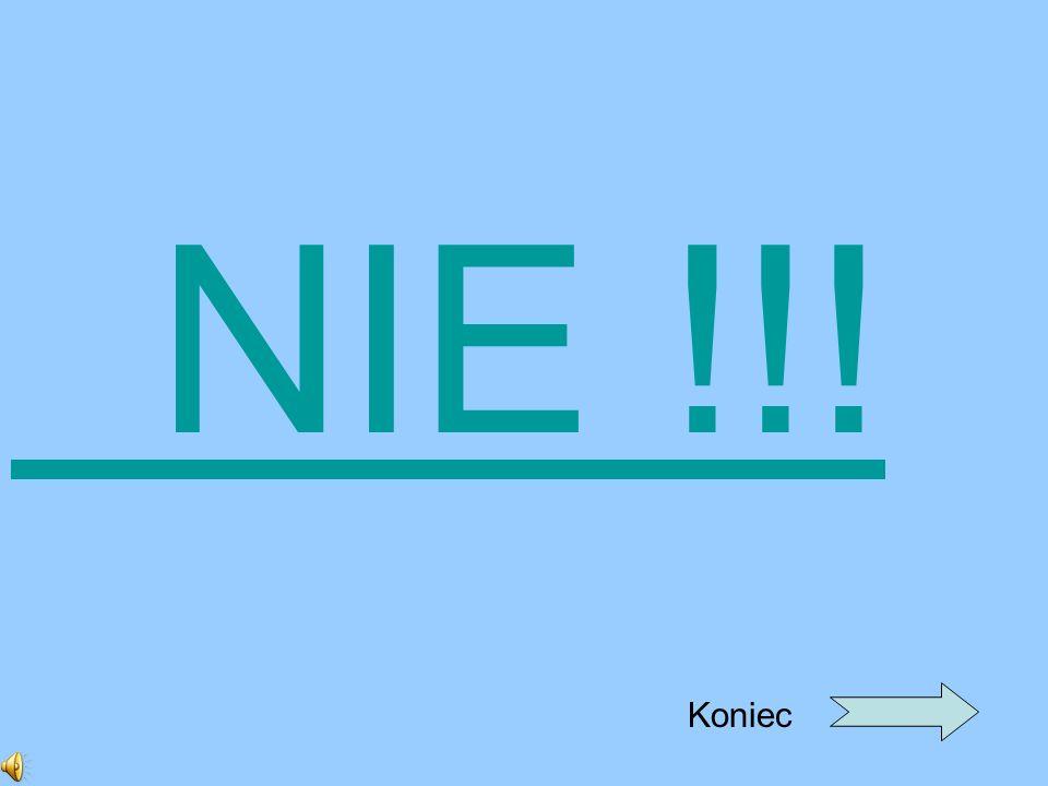 NIE !!! Koniec