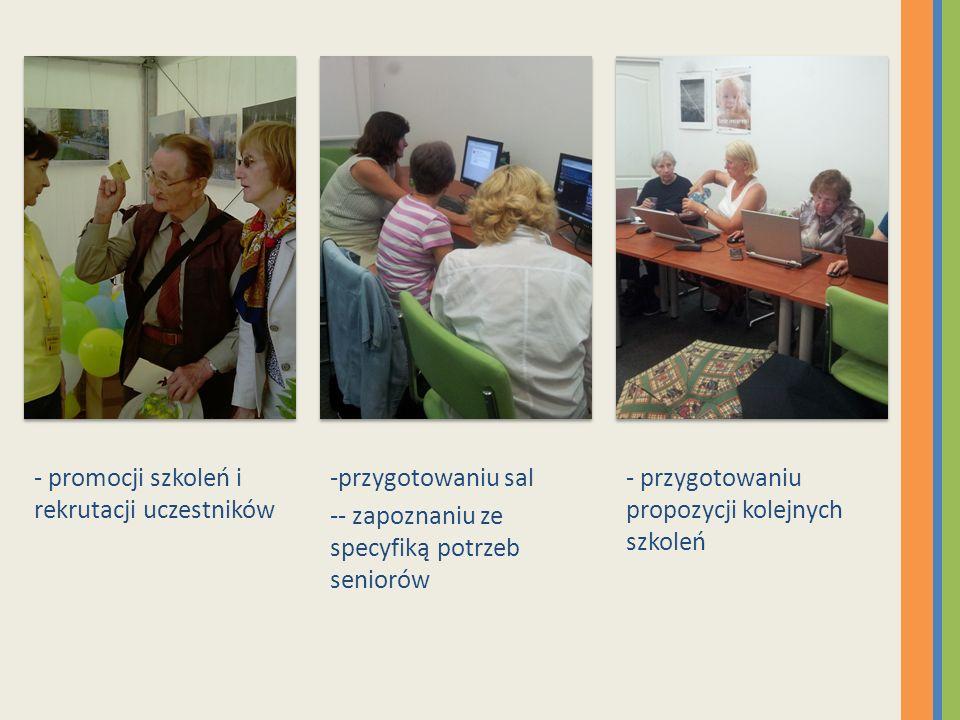 - promocji szkoleń i rekrutacji uczestników