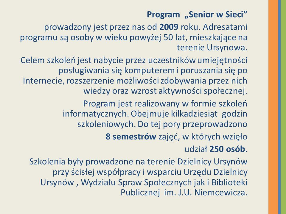"Program ""Senior w Sieci"