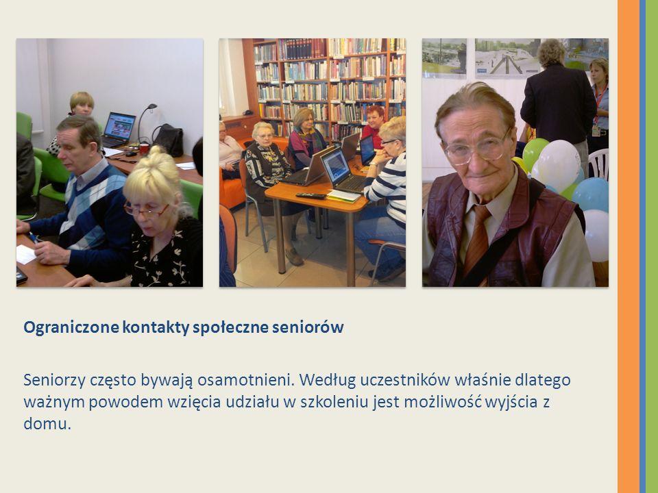 Ograniczone kontakty społeczne seniorów