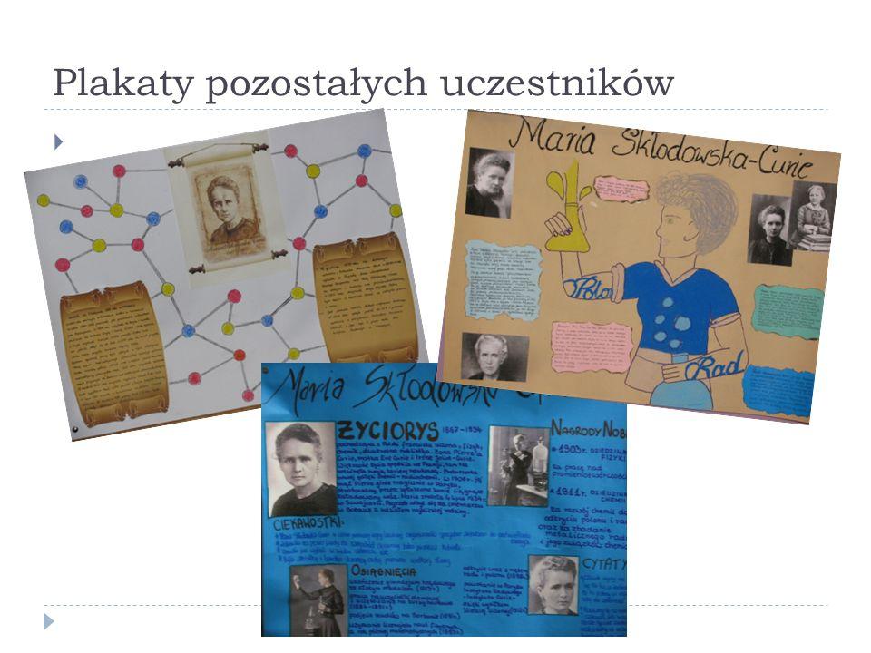Plakaty pozostałych uczestników