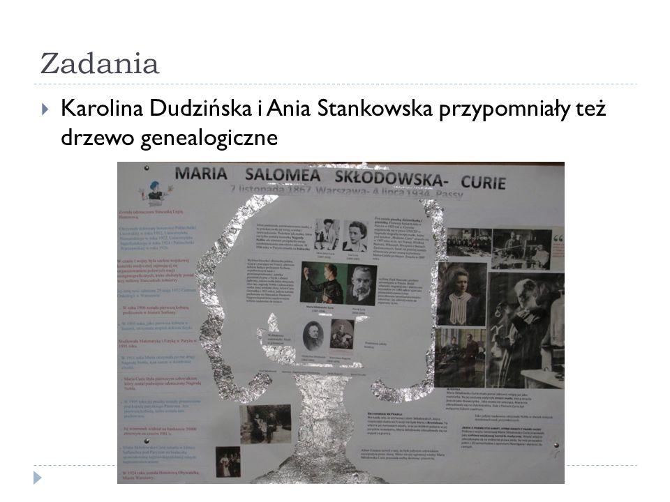 Zadania Karolina Dudzińska i Ania Stankowska przypomniały też drzewo genealogiczne